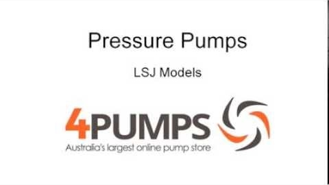 Watch Video: Household Pressure Pumps | LSJ Series