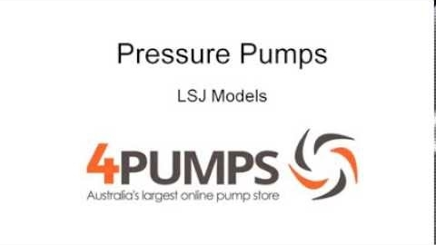 Watch Video : Household Water Pressure Pumps LSJ Review