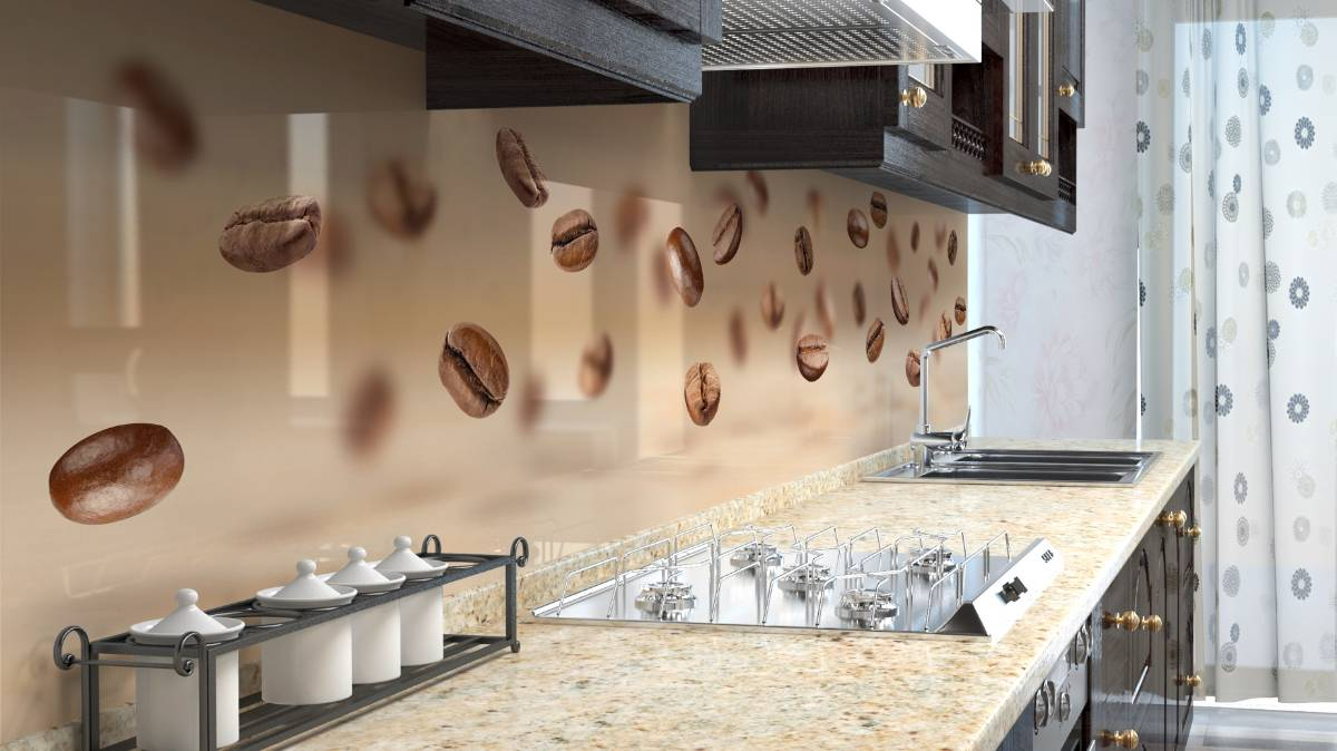 Coffee Dream Glass Splashback