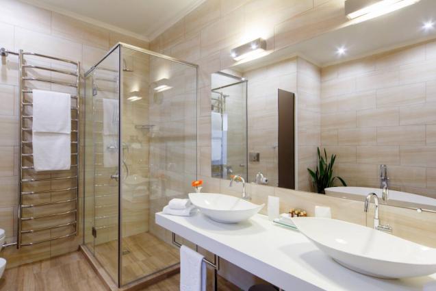 View: Semi Frameless shower screen