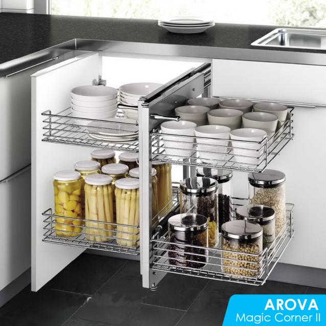 Read Article: How To Maximise Kitchen Space Utilisation - Part 1. Corner Cabinet / Magic Corner II