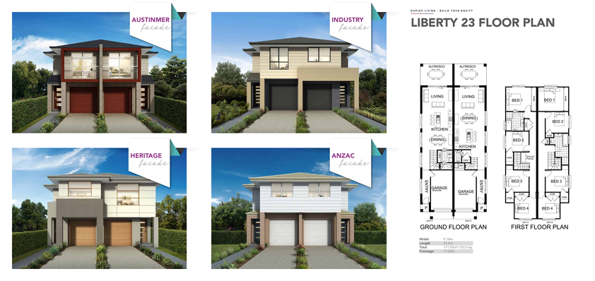 View Brochure: LIBERTY - Duplex Design