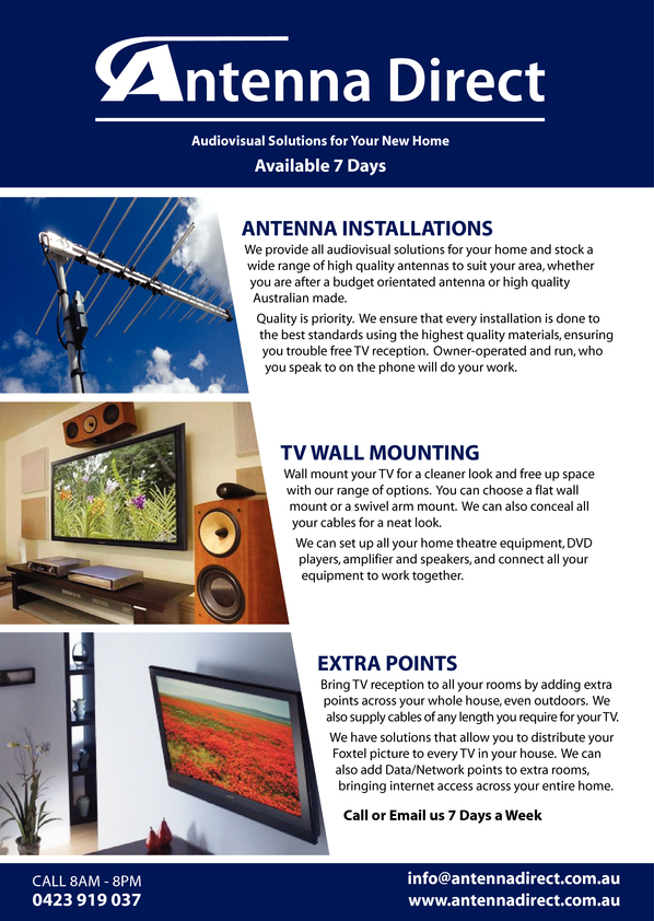 Browse Brochure: Antenna Services in Perth