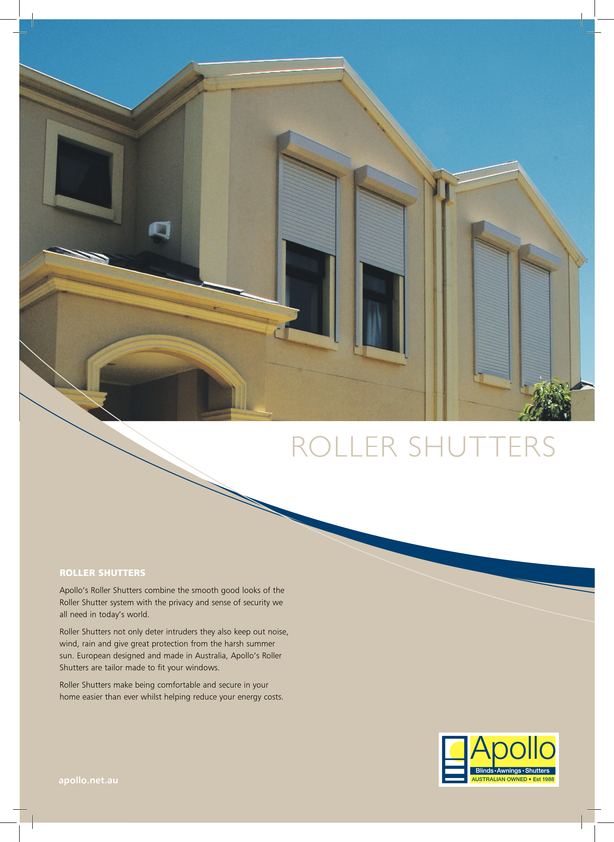 View Brochure: Roller Shutters by Apollo Blinds