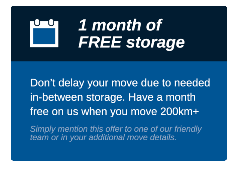 View Photo: 1 month free storage