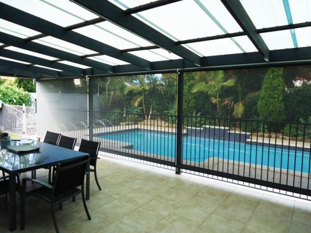 View Photo: Blinds near the Pool