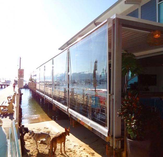 View Photo: Clear PVC Blinds line jetty keeping insiders comfortable