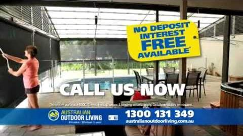 Watch Video : Australian Outdoor Living are now offering Free Installation on their Outdoor Bl