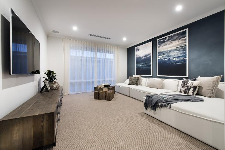 newport display home - media room