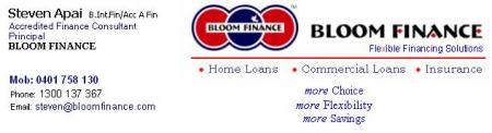 BLOOM FINANCE