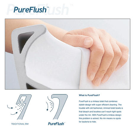 A New Design in Toilets - PureFlush Rimless Toilet