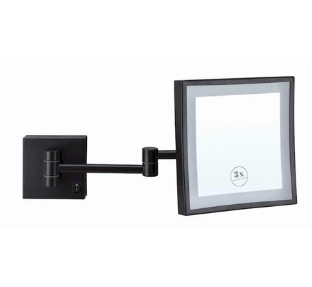 View Photo: Ablaze Lit Magnifying Square Mirror 3x Mag - Black
