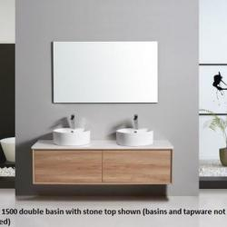 View Photo: Alpina Wall Hung 1500mm Double Basin Vanity