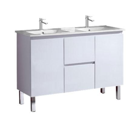 View Photo: Amalfi 1200 Vanity on Legs, China Top Double Basin