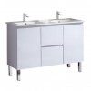 Amalfi 1200 Vanity on Legs, China Top Double Basin