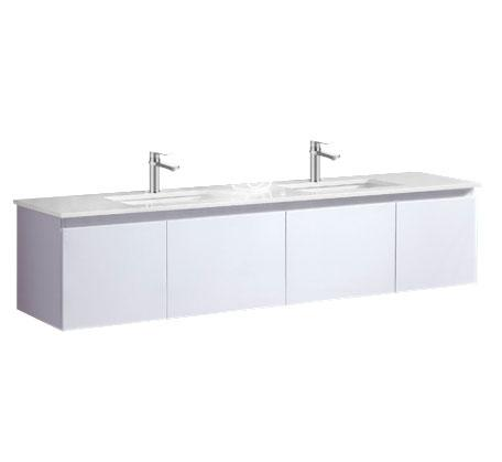 Amalfi 1800 Wall Hung Vanity, Caesarstone Top Double Basin