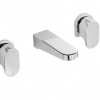 Amio 3 Piece Wall Basin or Bath Set
