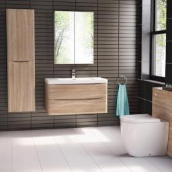 View Photo: Ancona 1200mm Wall Hung Vanity White Oak