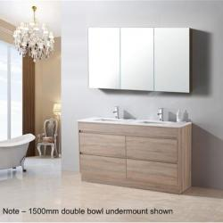 View Photo: Aria 1500mm Double Basin Vanity