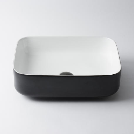 View Photo: Bellevue Small Rectangle Basin - Matte Black and White