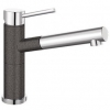 Blanco Silgranit single lever mixer - Anthracite & Chrome