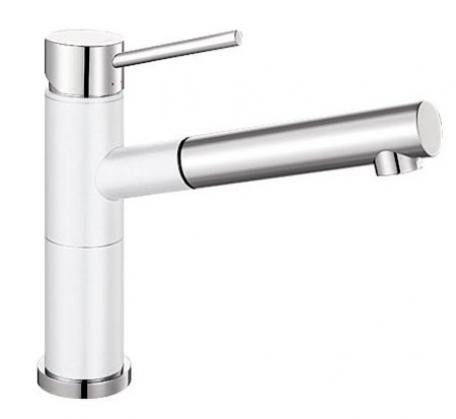 View Photo: Blanco Silgranit single lever mixer - White & Chrome