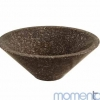 Brodgar Polished Marble Conical Basin