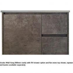 View Photo: Brooks Wall Hung 900mm RHD Vanity