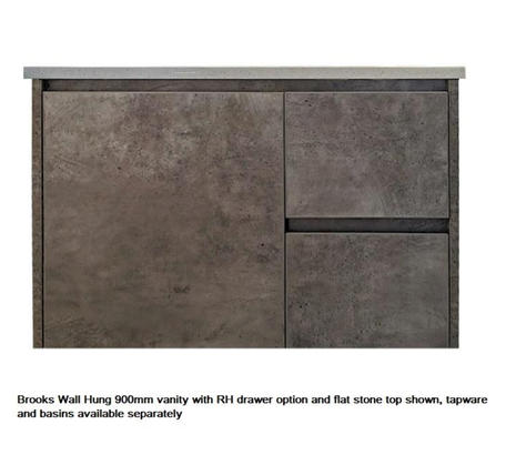 Brooks Wall Hung 900mm RHD Vanity