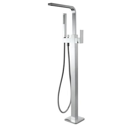 View Photo: Chao Square Floor Mixer with Hand Shower - Chrome