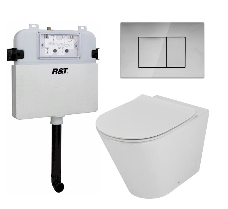 Concelo In-Wall Toilet Package with Satin Nickel Flush Plate