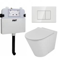 View Photo: Concelo In-Wall Toilet Package with White Flush Plate
