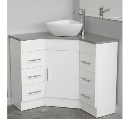 View Photo: Corner Vanity Caesarstone top 900mm x 900mm x 840mm