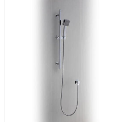 View Photo: Elba Square Single Function Shower on Rail - Chrome