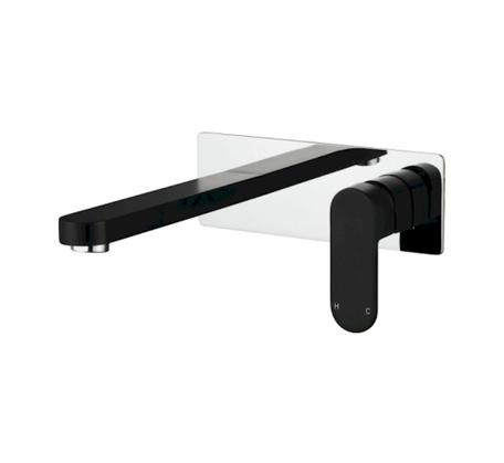 Eva Mini Wall Combination Matt Black & Chrome - Range 1