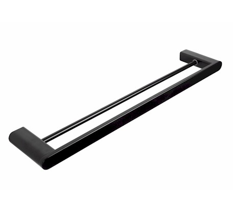 Fluid Noir Double Towel Rail