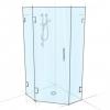 Frameless Diamond Shower Panel