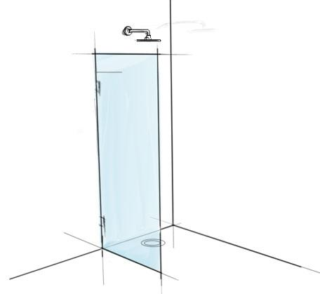 View Photo: Frameless glass shower panel