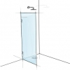 Frameless glass shower panel