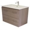 Gateway 750 Wall Hung Vanity with China Top - Brown Laminate