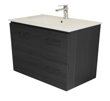 View Photo: Gateway 750 Wall Hung Vanity with China Top - Grey Laminate