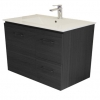 Gateway 750 Wall Hung Vanity with China Top - Grey Laminate
