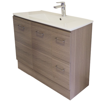 Gateway 900 Vanity on Kick With China Top - Brown Laminate