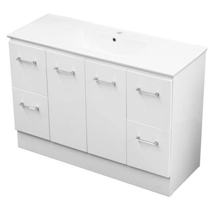 View Photo: Genoa 1200 Kick White Vanity