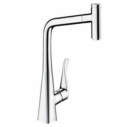 Hansgrohe Metris Select 320 Pull Out Mixer - Chrome