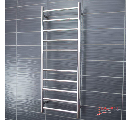 View Photo:  Heated Towel Ladder 430mm x 1100mm - 10 Round Bars