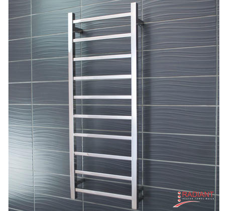 View Photo:  Heated Towel Ladder 430mm x 1100mm - 10 Square Bars