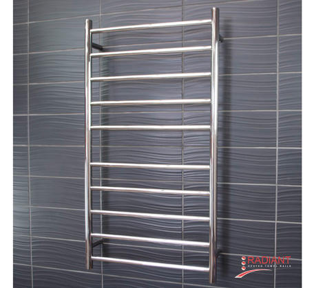 View Photo:  Heated Towel Ladder 600mm x 1100mm - 10 Round Bars