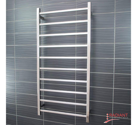 View Photo:  Heated Towel Ladder 600mm x 1200mm - 10 Square Bars