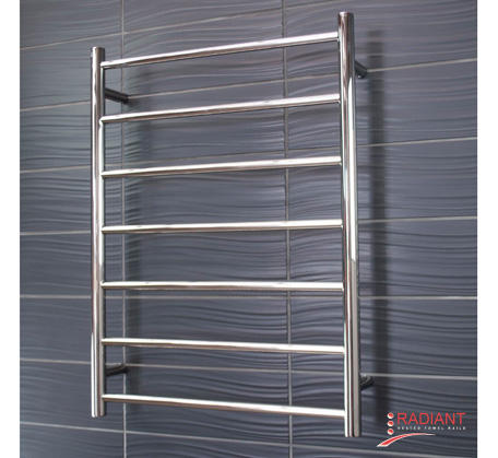 View Photo:  Heated Towel Ladder 600x800mm - 7 Round Bars